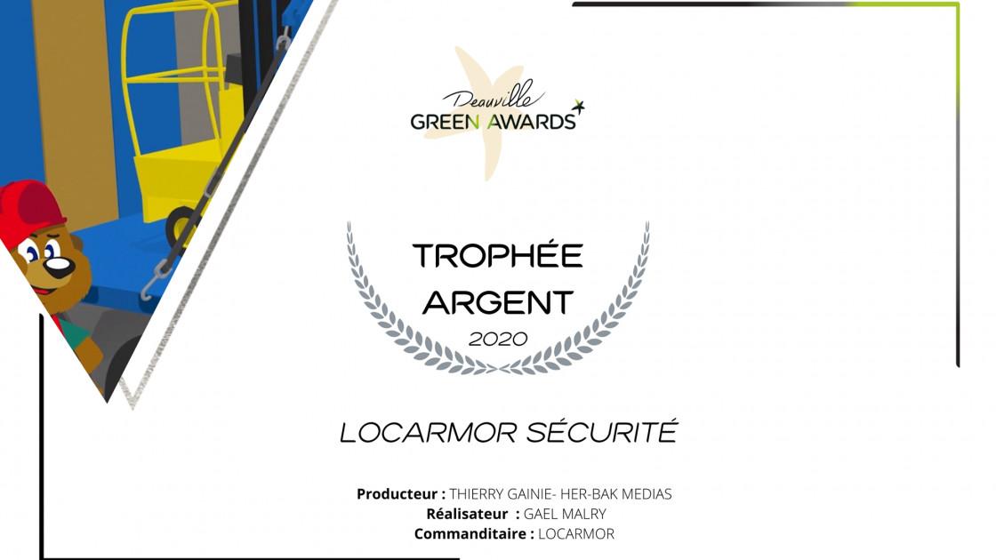 """Trophée d'Argent au Festival de Deauville Green Awards 2020 pour notre série d'animations """"Locarmor Sécurité"""" !"""