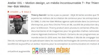 Venez nous rencontrer au Connect'In Lorient le 14/11/17 Atelier Motion design