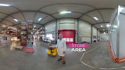 Visite d'usine VR 360 Lessonia