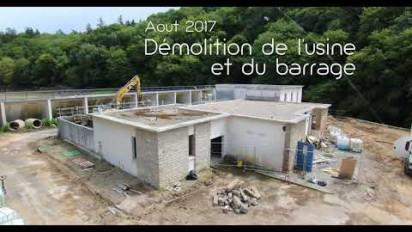 L'effacement du barrage de Pont-Sal en time lapse