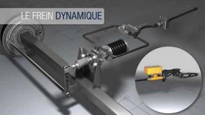 Présentation 3D du vérin de freinage hydraulique Agripower