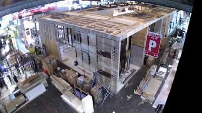 Time lapse stand de Schüco à Batimat 2017
